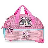 Disney Bolsa de Viaje Minnie Pink Vibes 40 cm, Rosa